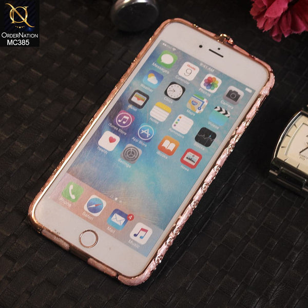 Luxury Rhinestone Diamond Bumper For iPhone 6s Plus / 6 Plus - Pink