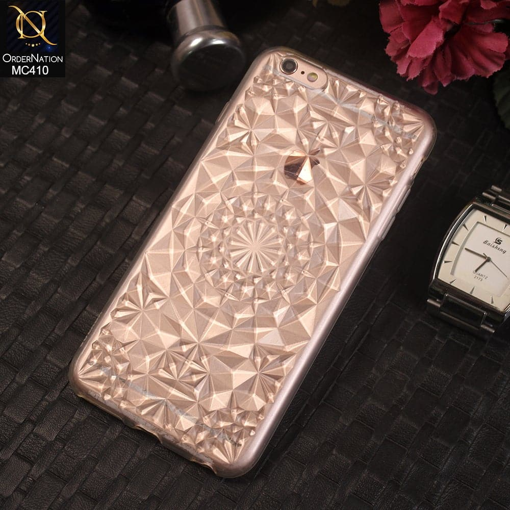 3d Luxury Diamond Crystals Soft TPU Case For iPhone 6s Plus / 6 Plus - White