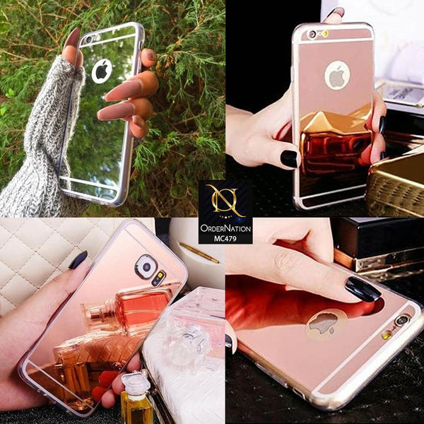 Luxury Mirror Shine Tpu Plane Simple Case For Xiaomi Redmi 4A - Rose Gold