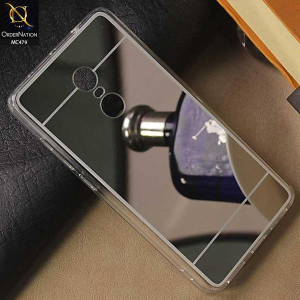 Luxury Mirror Shine Tpu Plane Simple Case For Xiaomi Redmi Note 4 / 4X - Silver