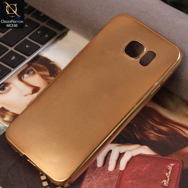 Luxury Electroplatd Soft Protective Case For Samsung Galaxy S6 - Golden