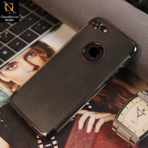Luxury Electroplated Colored Transparent Soft TPU Case For iPhone 8 / 7 - Grey