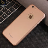 Ipaky 360 Protection Slim Fit Hybrid Luxury Bumper Cover Case (Flexible TPU + Hard Pc) For iPhone 6s / 6 - RoseGold