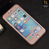 Ipaky 360 Protection Slim Fit Hybrid Bumper Cover For iPhone 6s Plus / 6 Plus - Rose Gold