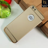 Joint Stylish Case For iPhone 5s / SE / 5 - Golden