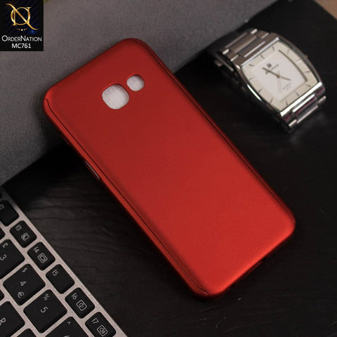 Luxury 360 Full Protection Flexible Case For Samsung Galaxy A3 2017 - Red