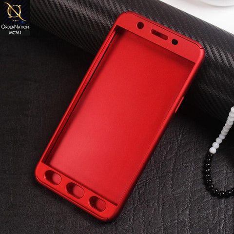 360 Full Protection Flexible Case For Oppo A59 - Red