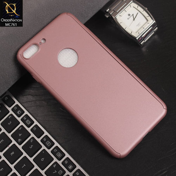 Luxury 360 Full Protection Flexible Case For iPhone 8 Plus / 7 Plus - Pink