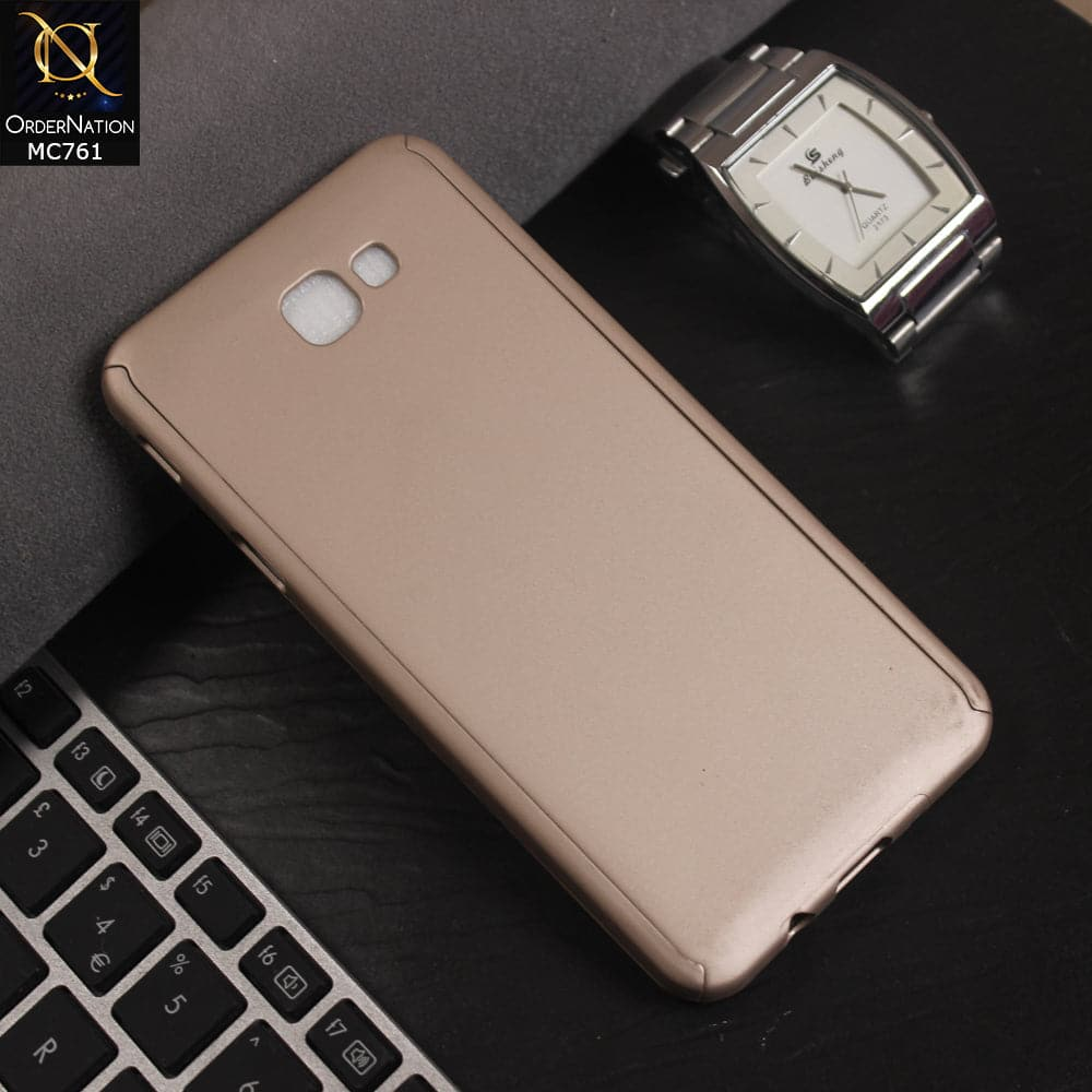 new concept 1a435 21787 Luxury 360 Full Protection Flexible Case For Samsung Galaxy J5 Prime -  Golden