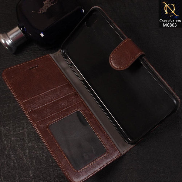 New Luxury stylish Synthetic Leather Wallet Case For iPhone 6S Plus / 6 Plus - Brown