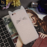 Luxury Cute Kitty Soft TPU Cover Case For iPhone 6s / 6 - White