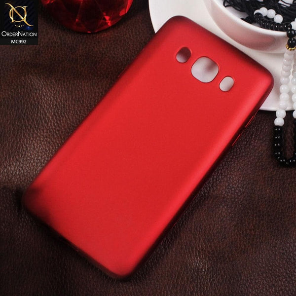 Color Chrome Tpu Case For Samsung Galaxy J5 2016 / J510 - Red