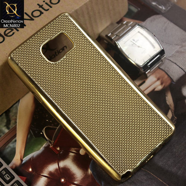 Doted Net ElectroPlated Case For Samsung Galaxy Note 5 - Golden
