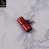 2-in-1 Lightning Adapter & Splitter For iPhones - Red