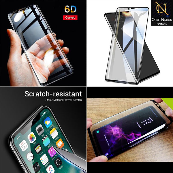 High Quality 6D Tempered Glass With 9H Hardness For Oppo A57 - Black