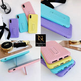3D Youthful Candy Style Kickstand Case For iPhone XR - Sky Blue
