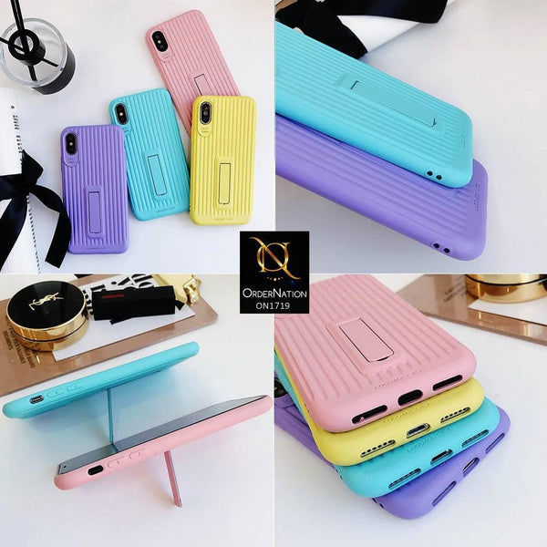 3D Youthful Candy Style Kickstand Case For iPhone XS Max - Sky Blue