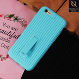 3D Youthful Candy Style Kickstand Case For iPhone 6S / 6 - Sky Blue