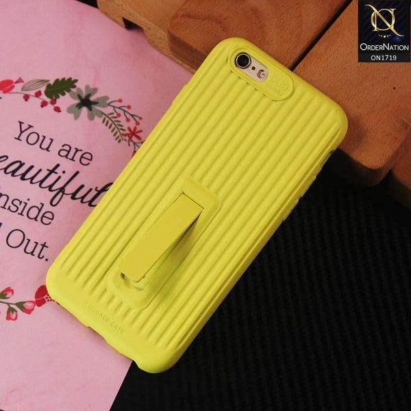 3D Youthful Candy Style Kickstand Case For iPhone 6S / 6 - Yellow