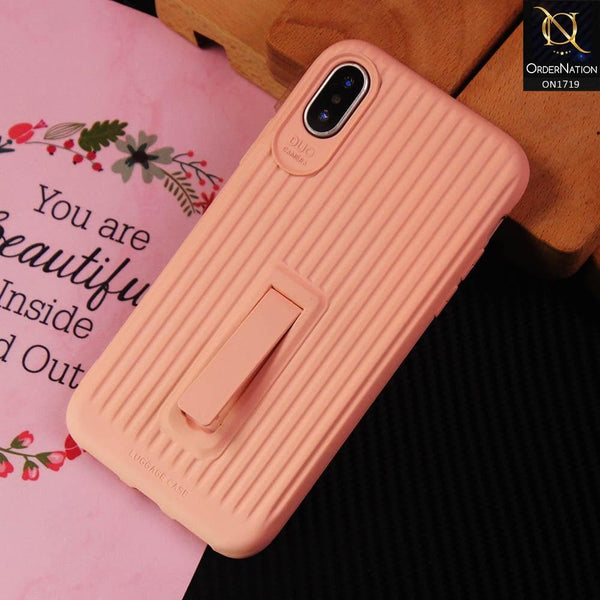 3D Youthful Candy Style Kickstand Case For iPhone XS / X - Pink