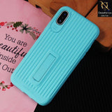 3D Youthful Candy Style Kickstand Case For iPhone XS / X - Sky Blue