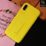 3D Youthful Candy Style Kickstand Case For iPhone XS / X - Yellow