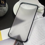 Soft Colorful  Border Semi Transparent Back Shell Case For iPhone 8 Plus / 7 Plus - Black
