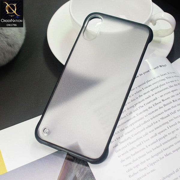 Soft Colorful  Border Semi Transparent Back Shell Case For iPhone XS Max - Black