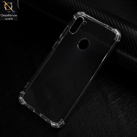 Samsung Galaxy A11 - Soft 4D Design Shockproof Silicone Transparent Clear Case