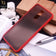 Oppo F11 Cover - Red - Luxury Semi Tranparent Color Frame Matte Hard PC Protective Case