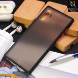 Luxury Semi Tranparent  Color Frame Matte Hard PC Protective Case For Samsung Galaxy Note 10 Plus - Black