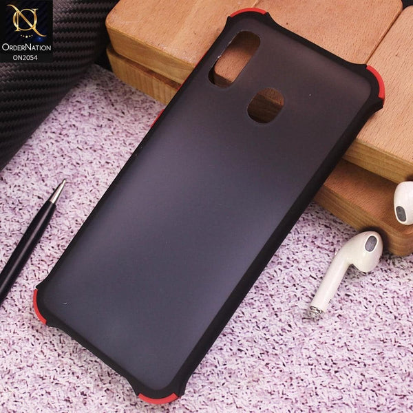 Samsung Galaxy A30 Cover - Black - Translucent Matte Shockproof Case