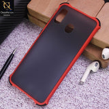 Samsung Galaxy A30 Cover - Red - Translucent Matte Shockproof Case