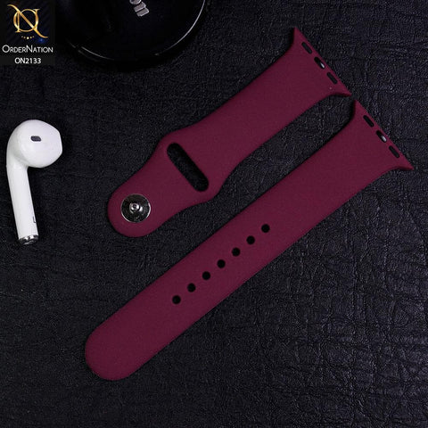 Apple Watch Strap Compatible 38/40mm - Burgundy - Soft Candy Color Watch Starp