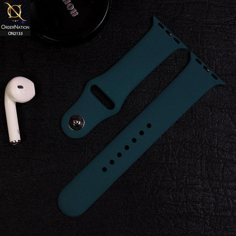 Apple Watch Strap Compatible 38/40mm - Deep Blush Green - Soft Candy Color Watch Starp