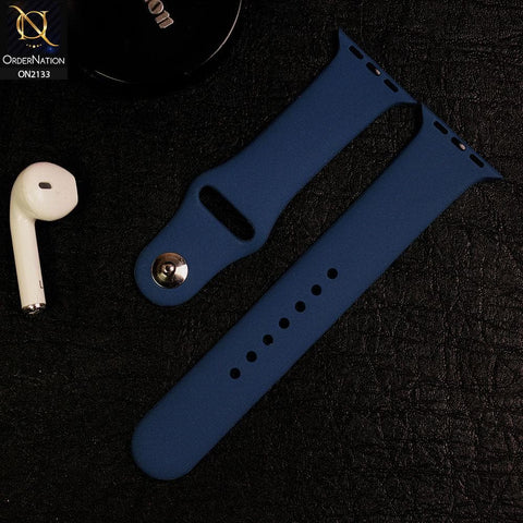 Apple Watch Strap Compatible 38/40mm - Prussian Blue - Soft Candy Color Watch Starp