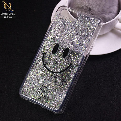 Oppo A3s Cover - Design 20 - Trendy Moving Liquid Glitter Shine Soft Borders Case