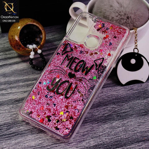 Infinix Hot 9 Pro Cover - Design 9 - Trendy Moving Liquid Glitter Shine Soft Borders Case