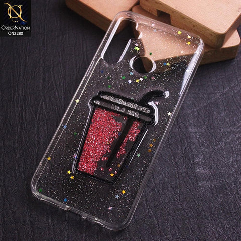 Realme 5 Cover - Design 4 - New 3D Transparent Glitter Case