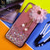 Infinix S5 Cover - Design 3 - Fancy Flower Bling Glitter Rinestone Soft Case