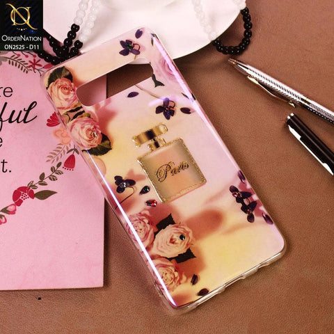 Samsung Galaxy S10 Plus Cover - Design 11 - Girlish Fashion Style Shiny Soft Case