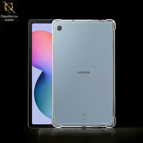 Samsung Galaxy Tab S6 Lite / P615 (2020) Cover - Soft 4D Design Shockproof Silicone Transparent Clear Case