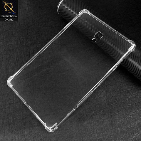 Samsung Tab A 10.5 / T590 / T595 (2018) Cover - Soft 4D Design Shockproof Silicone Transparent Clear Case