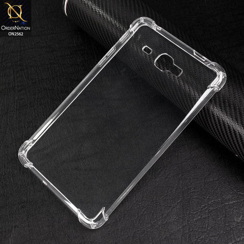 Samsung Galaxy Tab J 7.0 / T285 Cover - Soft 4D Design Shockproof Silicone Transparent Clear Case