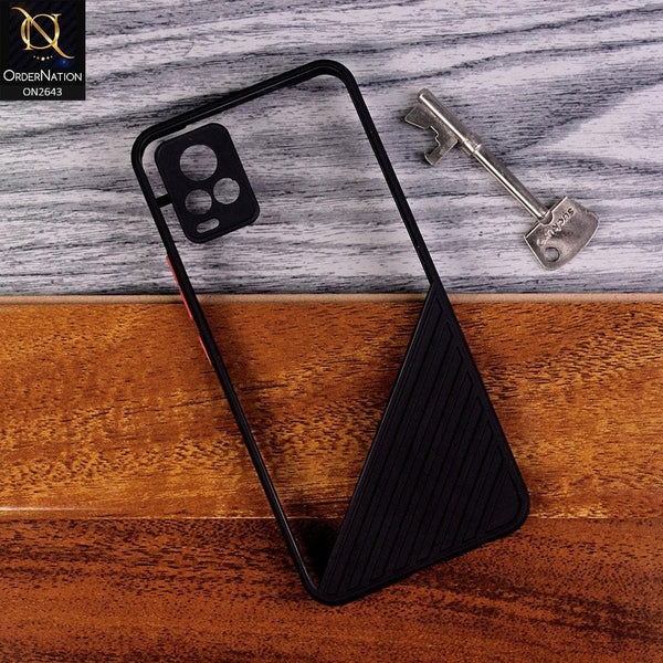 Vivo V20 Cover - Black - New Stylish Dual Touch Transparent Soft Triangle Case