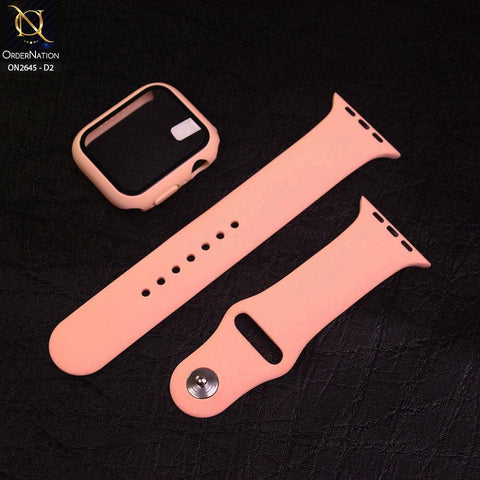 Apple Watch Series 4 / 5 / 6 (44mm) - Design 2 - Soft Candy Color Series Strap With Screen Cover