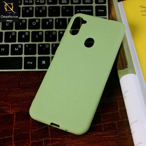 Samsung Galaxy A11 Cover - Light Green - New Fashion Style Candy Colour Soft Case