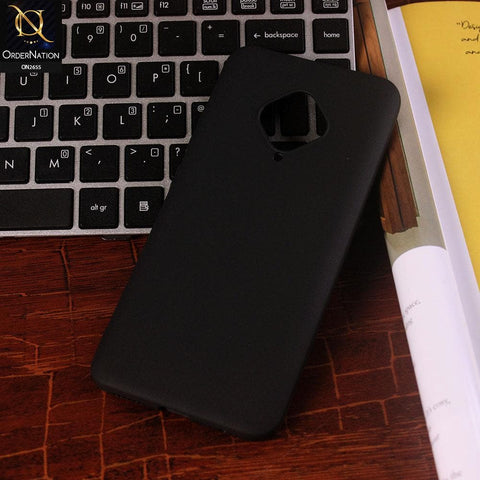 Vivo Y51 2020 Cover - Black - New Fashion Style Candy Colour Soft Case