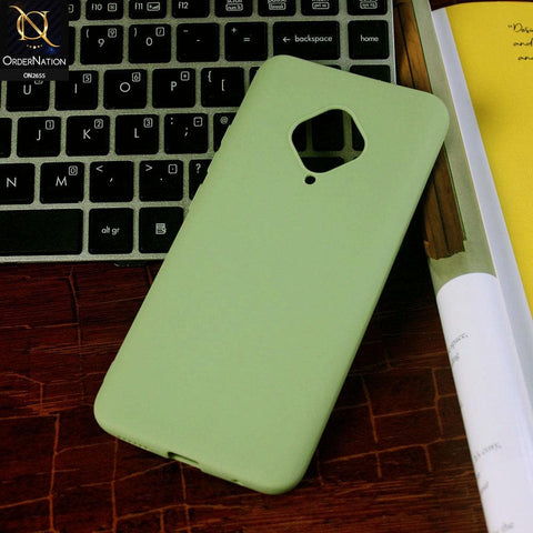 Vivo Y51 2020 Cover - Light Green - New Fashion Style Candy Colour Soft Case