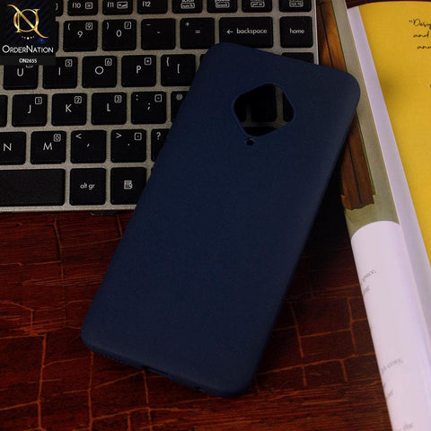 Vivo Y51 2020 Cover - Midnight Blue - New Fashion Style Candy Colour Soft Case